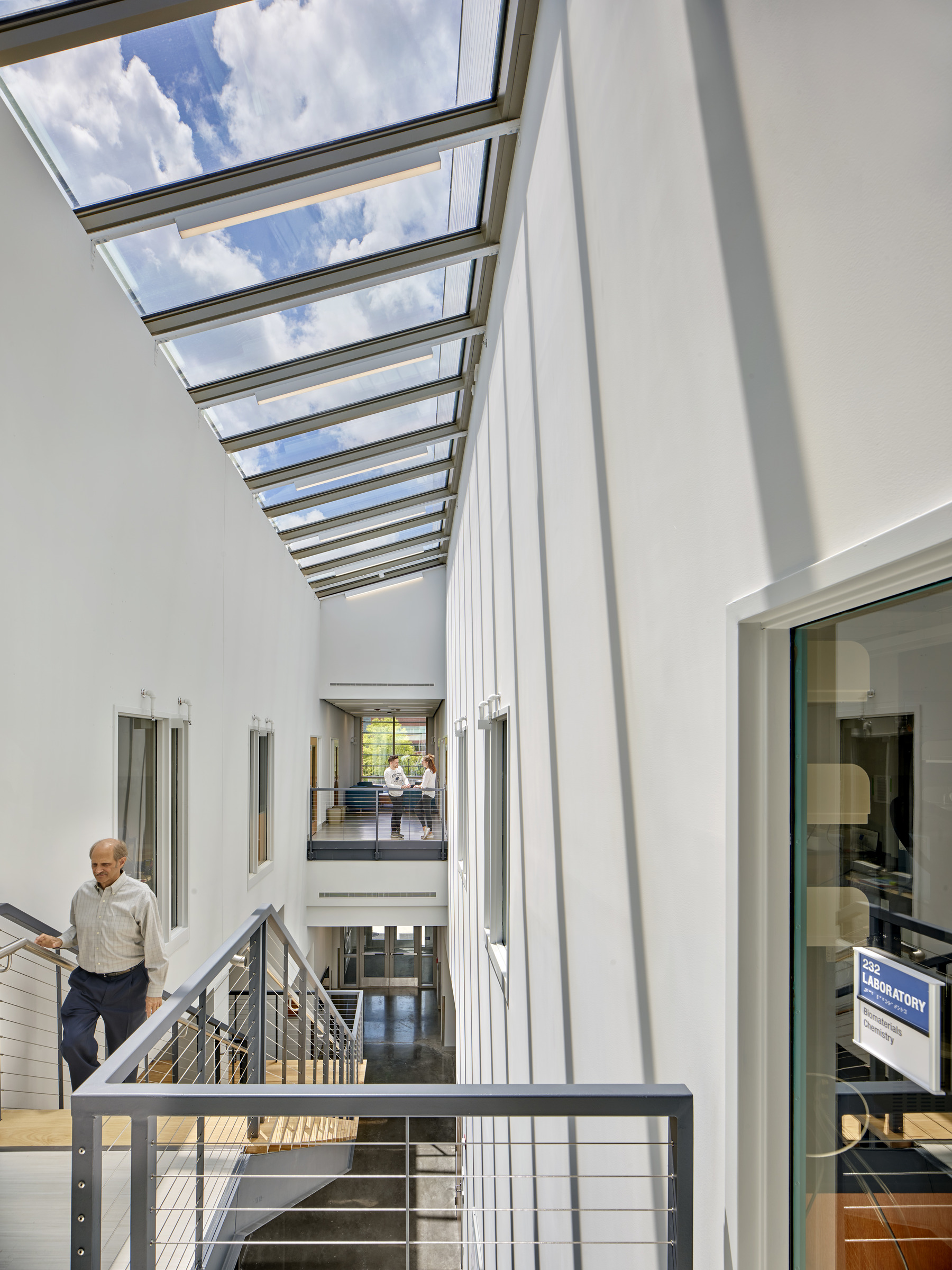 skylights throughout allows natural light to fill the space