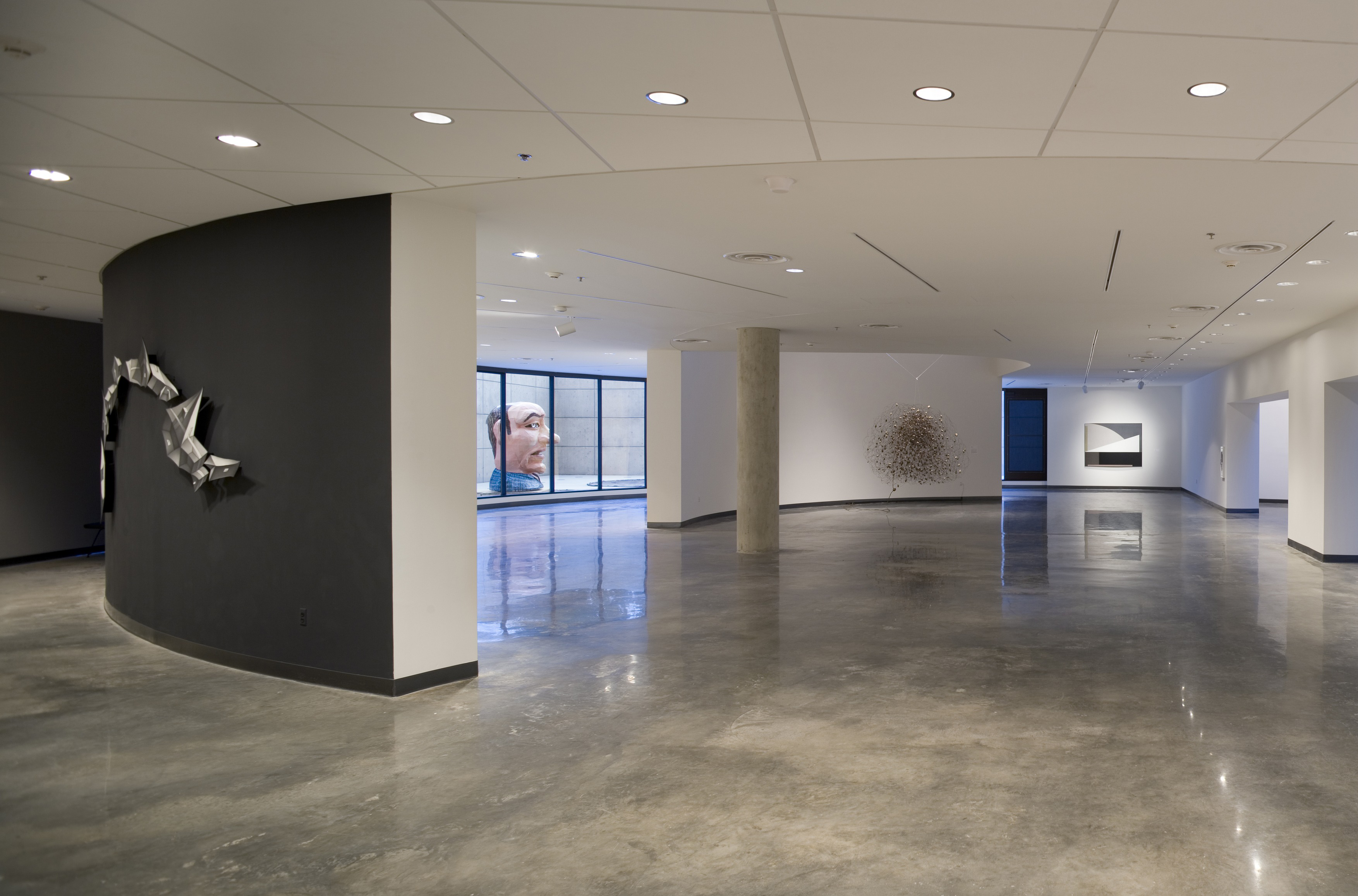 view of gallery space