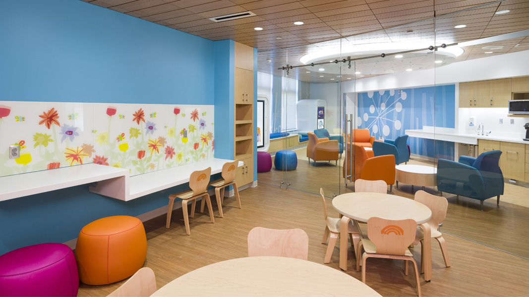 pediatrics lounge with soft seating
