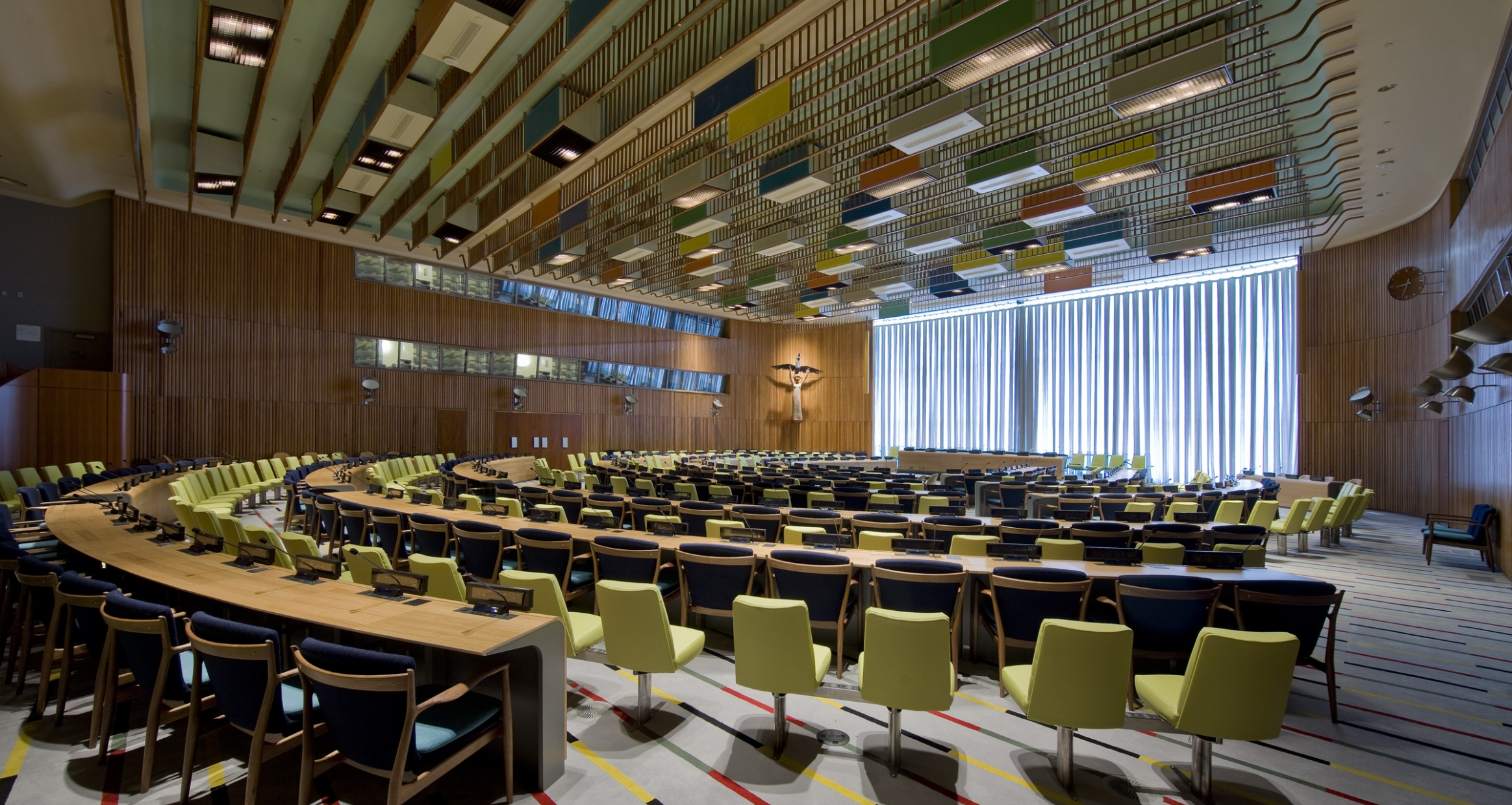 Interior view of the Trusteeship Council Chamber at the UN