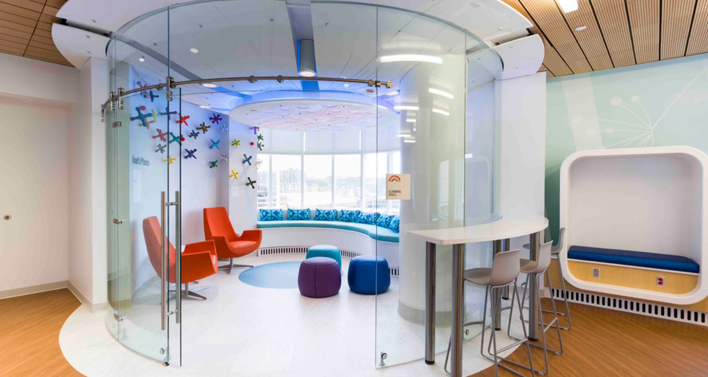 Inventive spaces make the Angie Fowler Adolescent & Young Adult Cancer Center more welcoming.