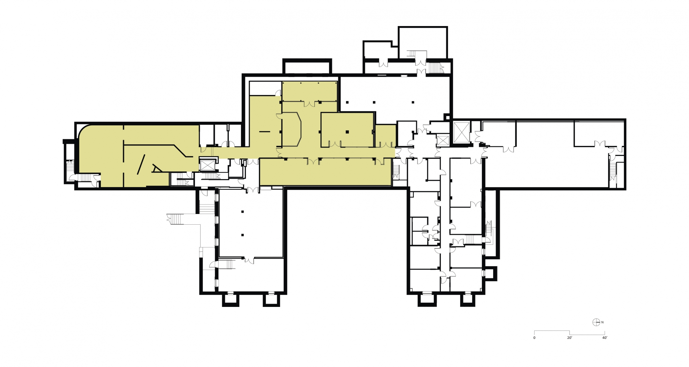 Floor plan post renovation