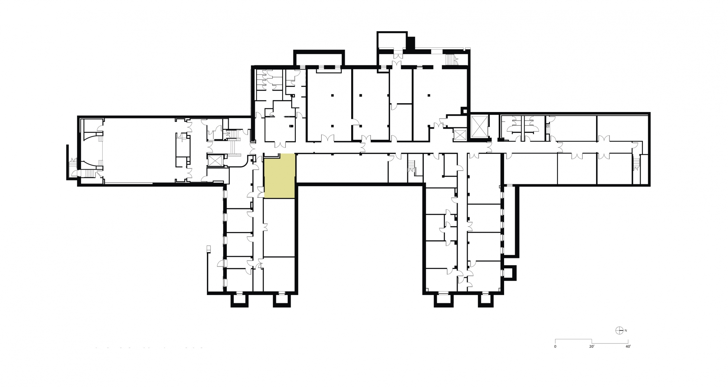 Floor plan before renovation