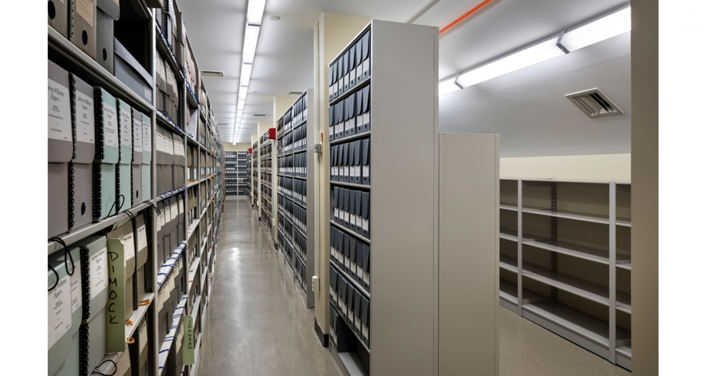 Archival storage shelving