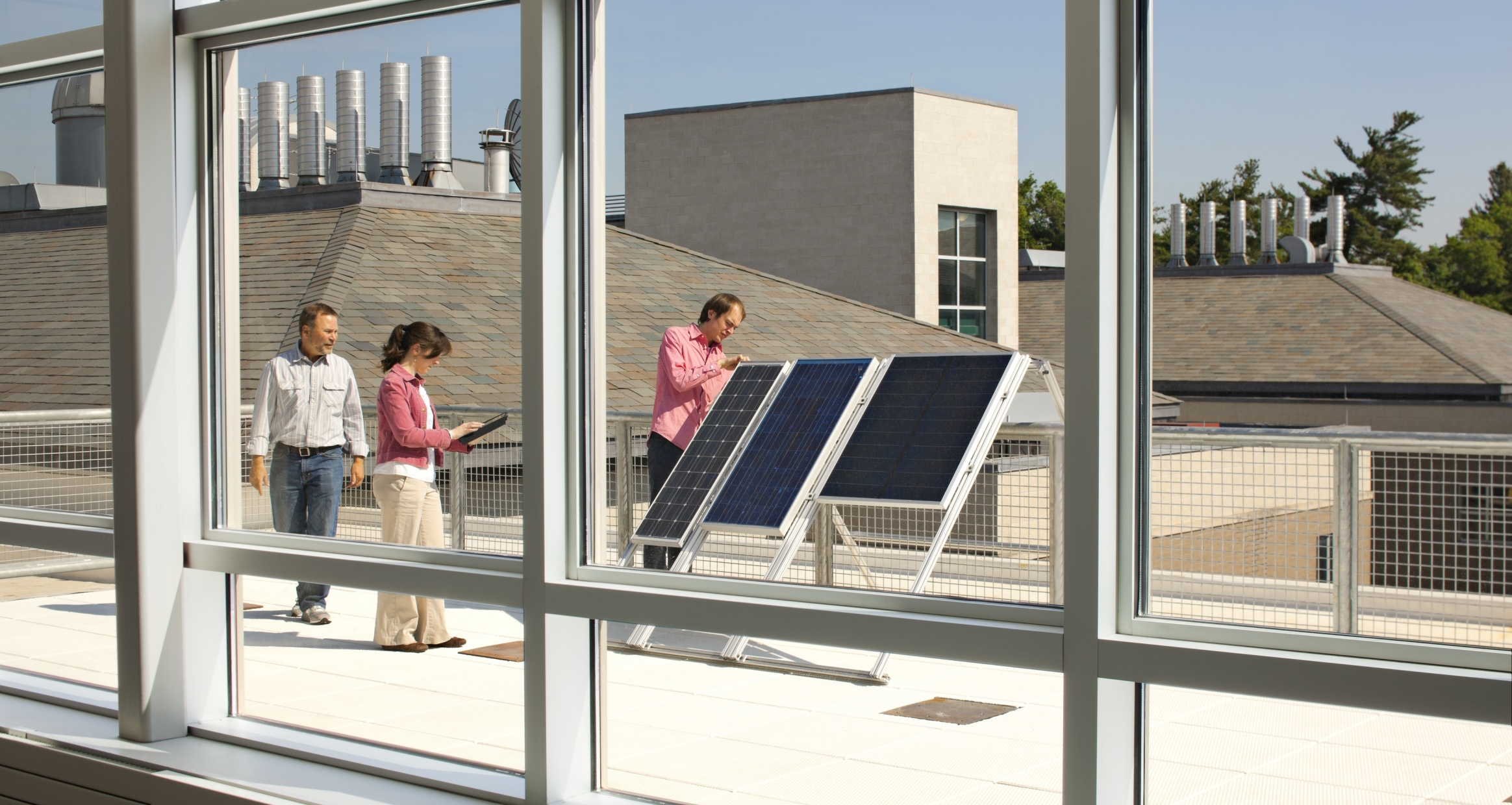 Photovoltaic solar panels on the roof