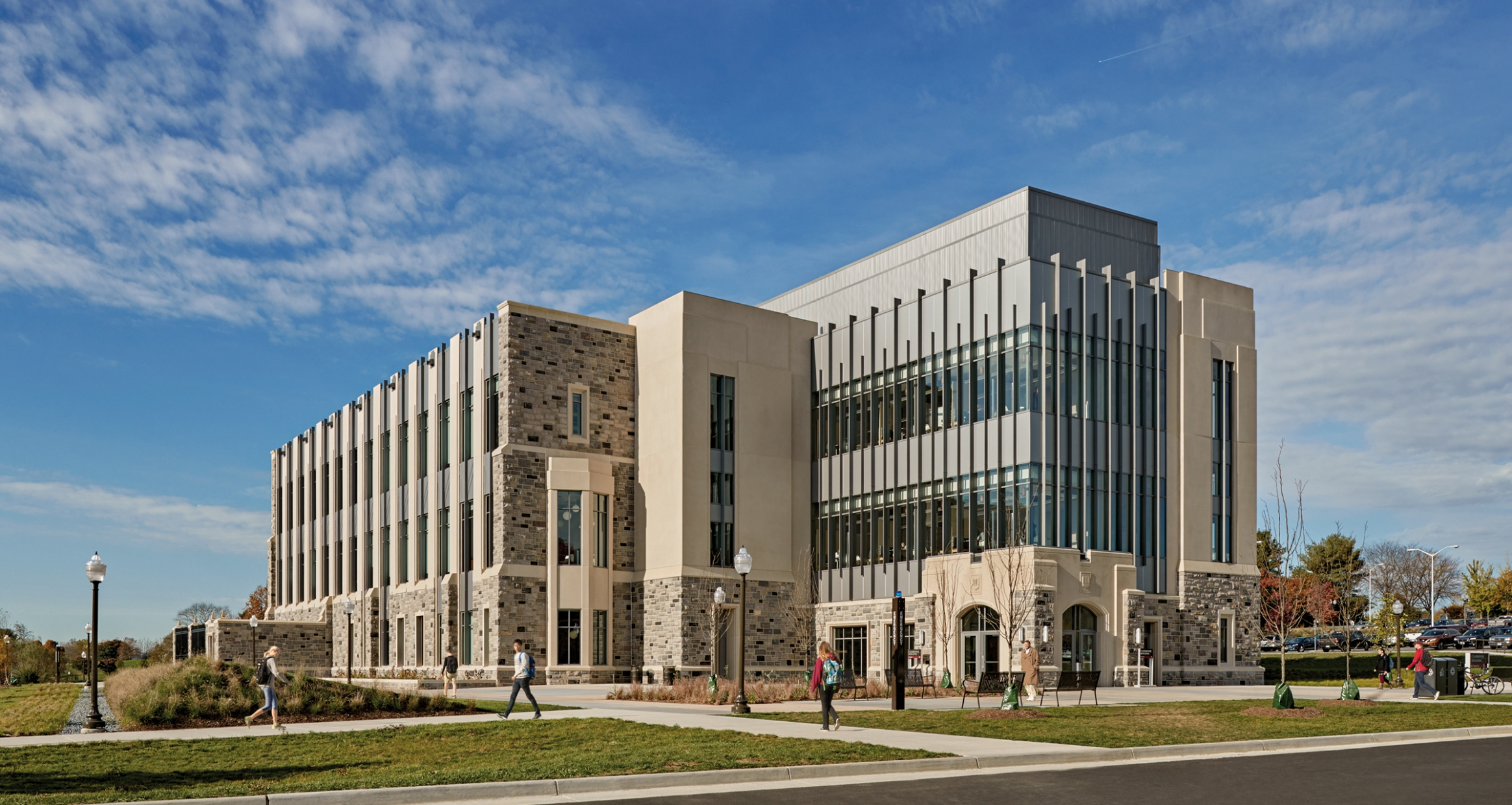 Exterior of Virginia Tech New Classroom Building