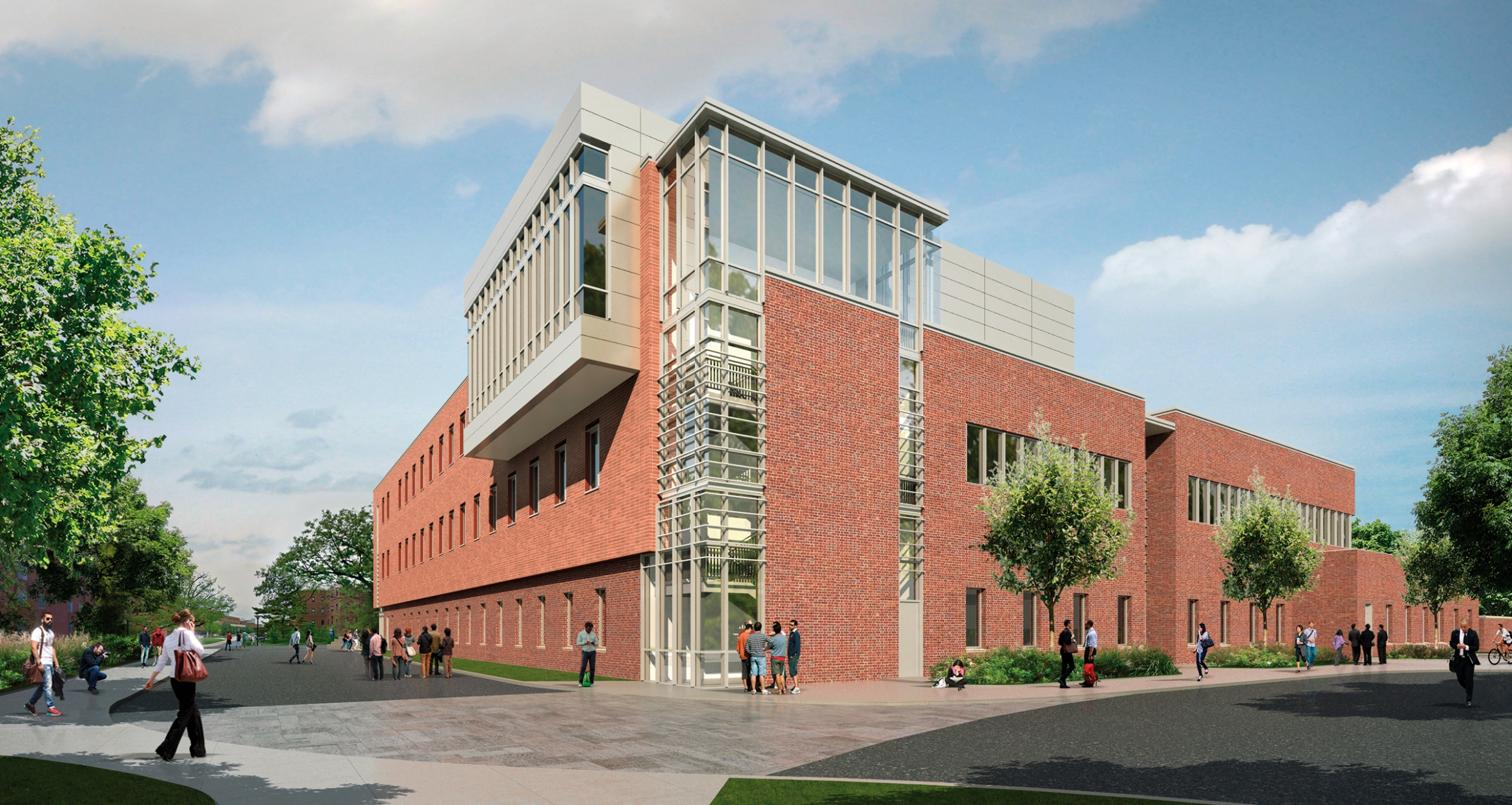 Exterior rendering of Agricultural Engineering Building