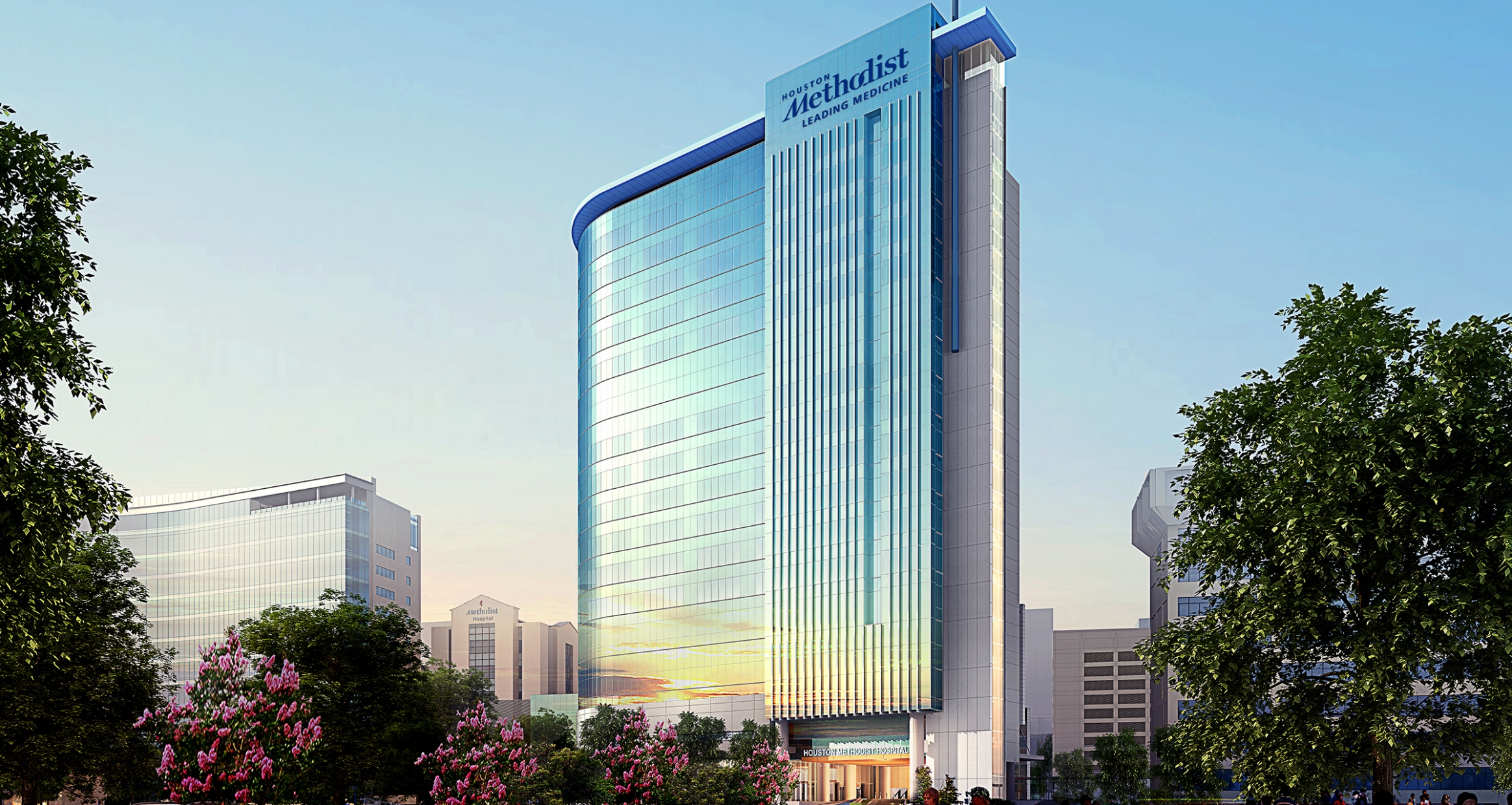Exterior rendering of Houston Methodist Hospital North Campus Expansion