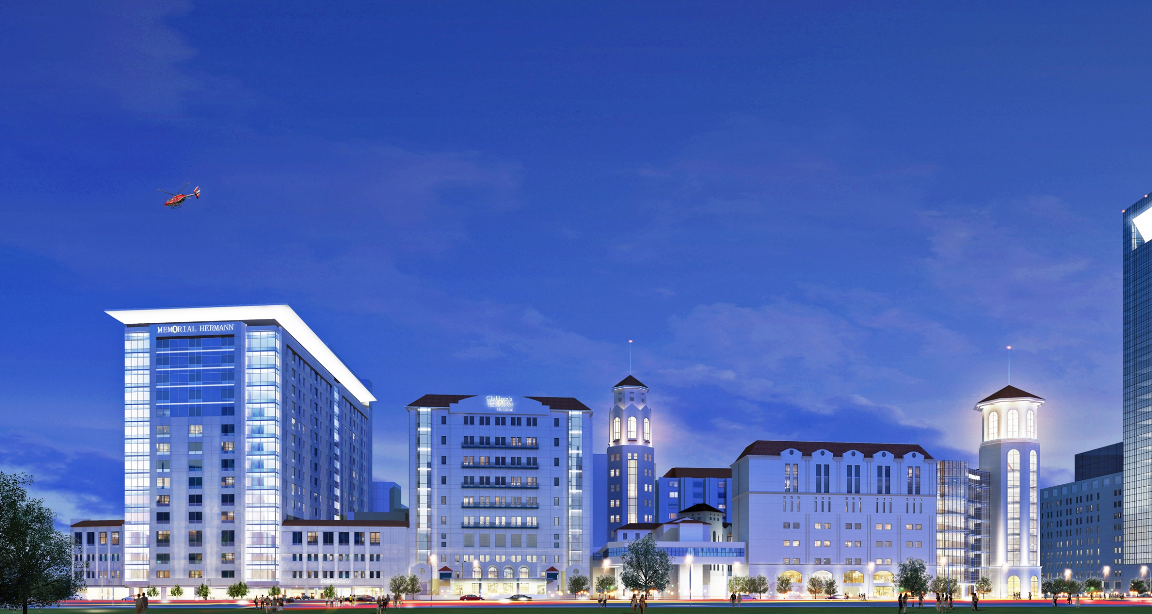 Memorial Hermann Pavilion street view rendering