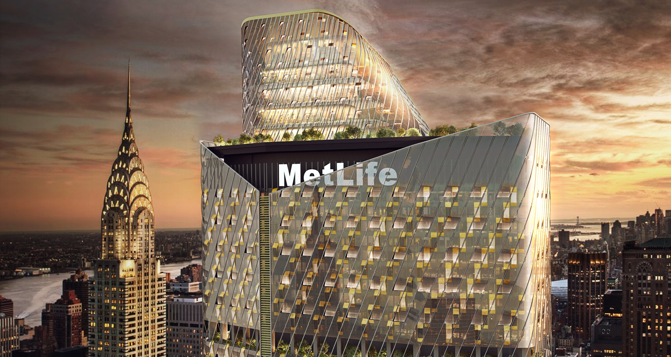 Exterior facade of MetLife Building