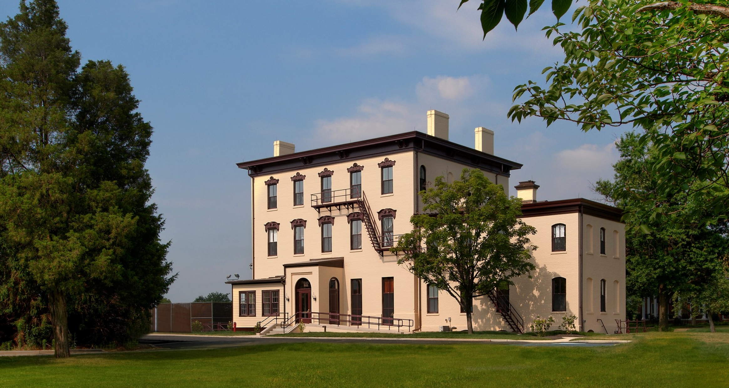 Exterior of Grant Hall at Fort McNair