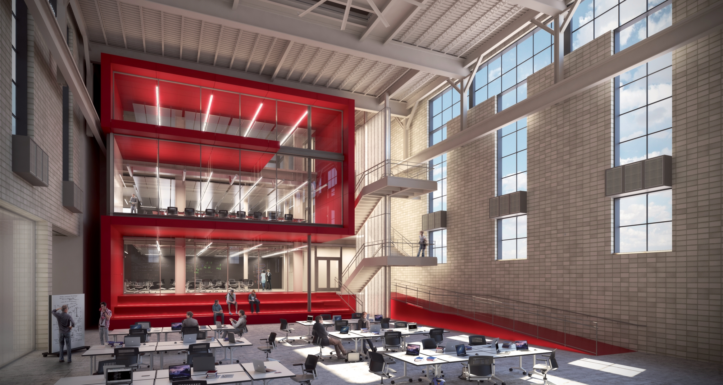 Mountaintop Campus' flexible high-bay space