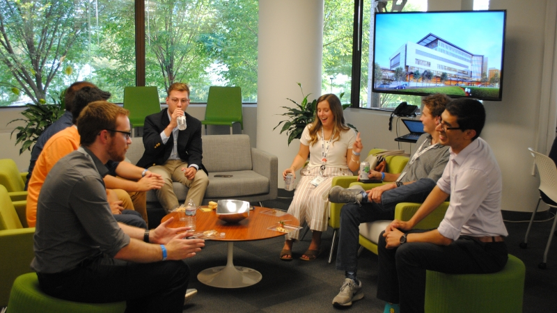Students meet at EYP's DC office to learn about working in an integrated A/E firm
