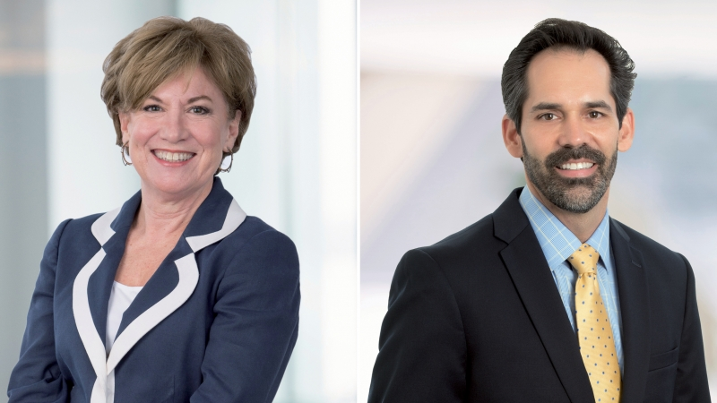 The headshots of medical planning experts Laurie Waggener and Mark Vaughan