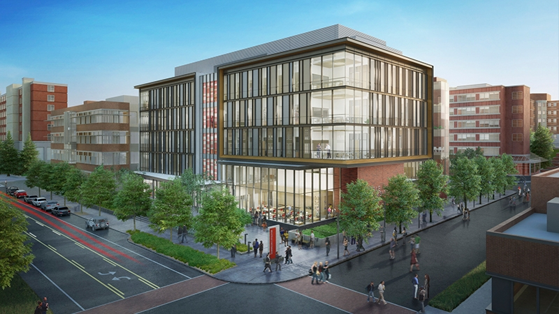 exterior rendering for Seattle University Center for Science and Innovation