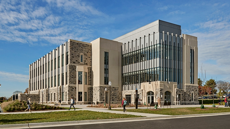 exterior image of Virginia tech new classroom building