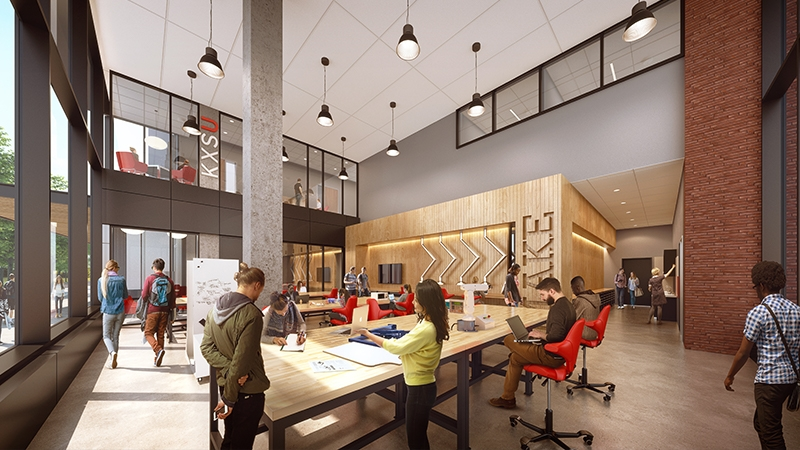 interior rendering of seattle university center for science and innovation