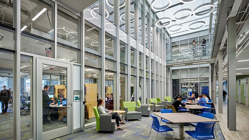 Interior image of STEM complex at TCNJ