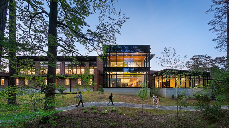 Exterior shot of the Welless Center at the College of William and Mary
