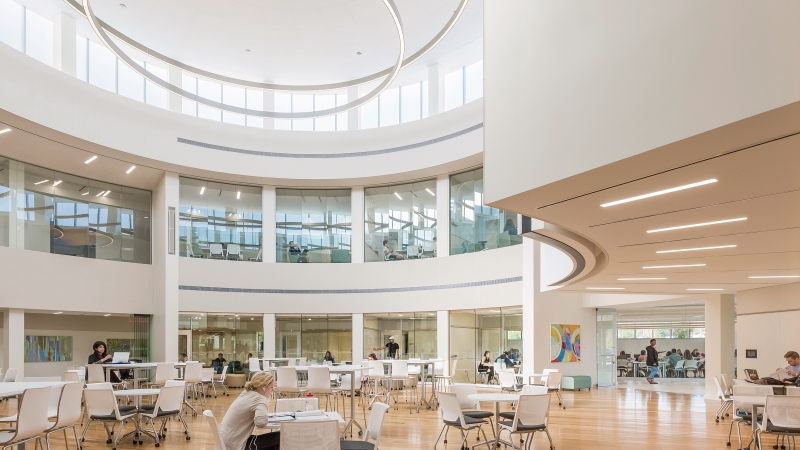 Bryant University, Academic Innovation Center, Atrium